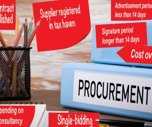 Using 'red flag' indicators to identify corruption and analyse reform efforts in the procurement process